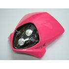 【KN企劃】MotoCross 頭燈整流罩  (垂直型/雙燈)【粉紅色】