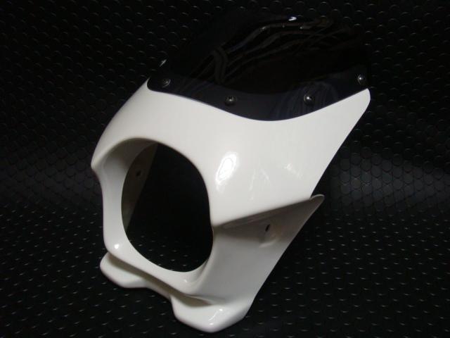 通用型 頭燈整流罩 【白色】