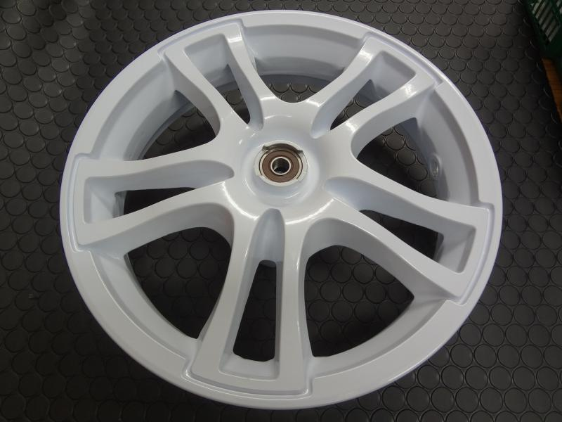 ADDRESS V125鑄造前後輪框組【白色】K1-K9