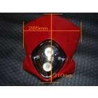 【KN企劃】MotoCross 頭燈整流罩  (垂直型/雙燈)【紅色】