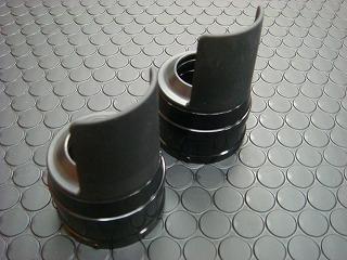 Cygnus X 【台灣版33φ】 BWS125 鋁合金前叉防塵蓋蓋【黑色】