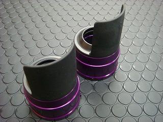 【KN企劃】Cygnus X 【台灣版33φ】 BWS125 鋁合金前叉防塵蓋蓋【紫色】 - 「Webike-摩托百貨」