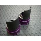 【KN企劃】Cygnus X 【台灣版33φ】 BWS125 鋁合金前叉防塵蓋蓋【紫色】