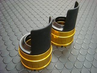 Cygnus X 【台灣版33φ】 BWS125 鋁合金前叉防塵蓋蓋【金色】
