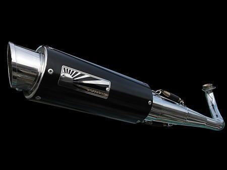 HOTLAP V125 全段排氣管 (黑色)  K9-