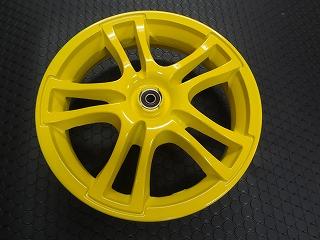 ADDRESS V125鑄造前後輪框組【黃色】L0
