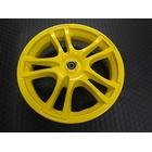【KN企劃】ADDRESS V125鑄造前後輪框組【黃色】L0