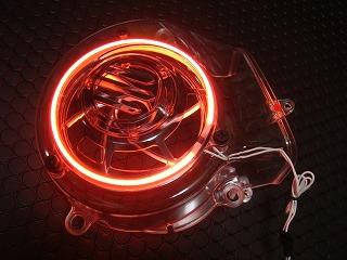 【KN企劃】風扇蓋 【CygnusX /透明紅色】 - 「Webike-摩托百貨」