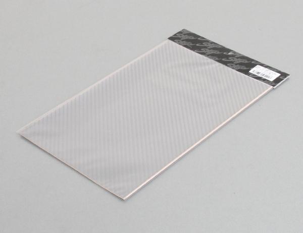 Elmard 碳纖維樣式單片貼紙 銀 210mm×330mm