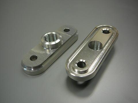 強化鋁合金切削加工 油杯開關固定座單體
