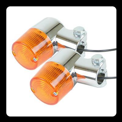 Compact 方向燈 (圓型 鍍鉻 琥珀色)