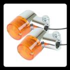 【GOODS】Compact 方向燈 (圓型 鍍鉻 琥珀色)