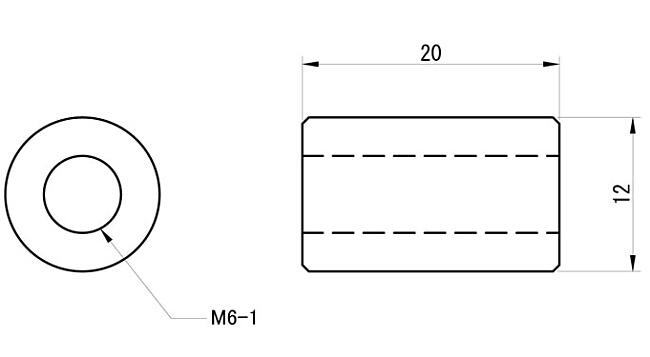 【GOODS】焊接型用加高螺帽 M6 2型 (10個一組) - 「Webike-摩托百貨」