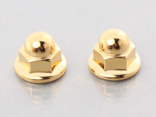 鍍金墊圈頭螺帽 (無鋸齒) (24K) (有蓋)