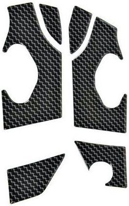 【Wunderlich】3D 仿碳纖維印刷 腳踏後移用車架保護貼 - 「Webike-摩托百貨」