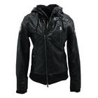 ACE CAFE LONDON SC PU Leather Hoodie Jacket
