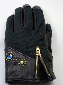 網格×牛皮手套 VG12C-2(S.shapes)