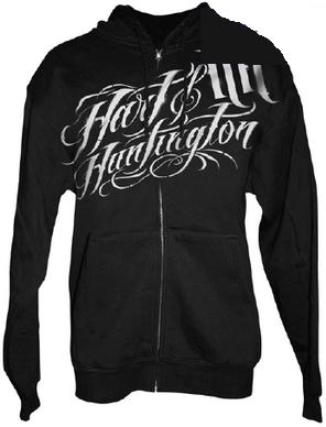 【Hart&Huntington】 STENCIL SCRIPT 男用連帽外套 - 「Webike-摩托百貨」