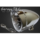 【Garage T&F】4.5吋 Rocket 型頭燈&頭燈支架套件 (Type B)