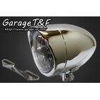 【Garage T&F】4吋 Plane 型頭燈(Long)&頭燈支架套件 (Type B)