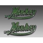【MINIMOTO】Monkey油箱用立體銘板左右一組銀
