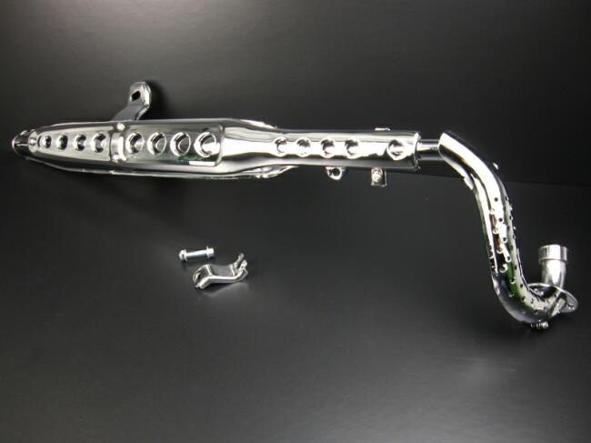 Dax 88cc-125cc 普通型 電鍍全段排氣管
