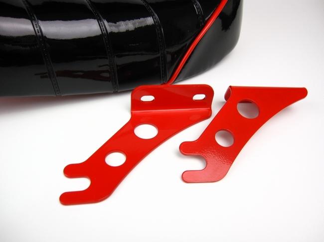 【MINIMOTO】毛毛蟲降低型坐墊亮面黑×紅 - 「Webike-摩托百貨」