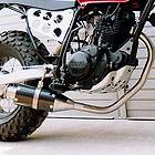 【Racing Shop Yokota】RSY Beauty 短黑色碳纖維全段排氣管:TW200 (2JL)用