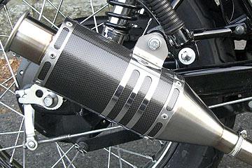 【Racing Shop Yokota】RSY Beauty 短黑色碳纖維全段排氣管:TW200E (DG07J)用 - 「Webike-摩托百貨」