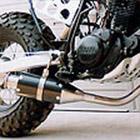 【Racing Shop Yokota】RSY Beauty 短黑色碳纖維全段排氣管:TW200E (DG07J)用