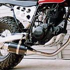 【Racing Shop Yokota】RSY Beauty 短黑色碳纖維全段排氣管:TW225E (DG09J)用