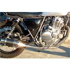 【Racing Shop Yokota】RSY Beauty 短黑色碳纖維全段排氣管:GRASS TRACKER (NJ47A)用