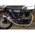 【Racing Shop Yokota】RSY Beauty 短黑色碳纖維全段排氣管:ESTRELLA (BJ250A・噴射供油)用