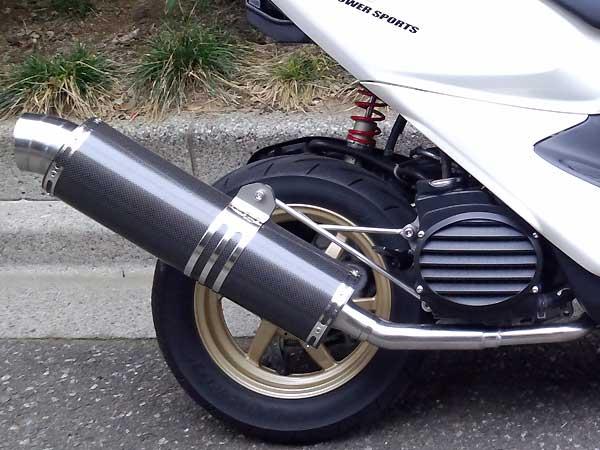 RSY Little Bomb 黑色碳纖維全段排氣管:Dio Z4 (AF57)用