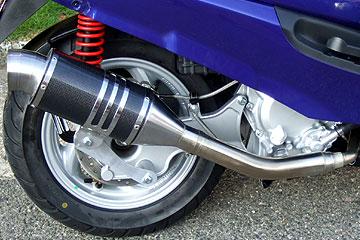 RSY Spider 黑色碳纖維全段排氣管:Zoomer (AF58・化油器)用