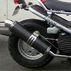 【Racing Shop Yokota】RSY Little Bomb 黑色碳纖維全段排氣管:Zoomer (AF58)用