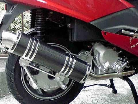 【Racing Shop Yokota】RSY Little Bomb Racing 黑色碳纖維全段排氣管:Cygnus X (SE12J)用 - 「Webike-摩托百貨」