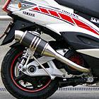【Racing Shop Yokota】RSY Spider 黑色碳纖維全段排氣管:Cygnus X FI (台灣5期)用