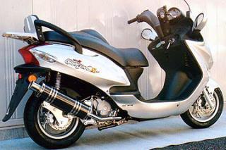 RSY Big Horn 黑色碳纖維全段排氣管:Kymco Grand Dink 125用