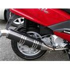 【Racing Shop Yokota】RSY Excellent 黑色碳纖維全段排氣管:SYM RV125 EFI 用