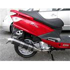 【Racing Shop Yokota】RSY Excellent 黑色碳纖維全段排氣管:SYM RV125 i(LF12W)用