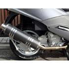 【Racing Shop Yokota】RSY Big Horn 黑色碳纖維全段排氣管:SYM RV125i (LF12W)用