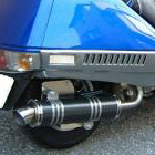 【Racing Shop Yokota】RSY Little Bomb 黑色碳纖維全段排氣管:FUSION (MF02)・Lowdown用