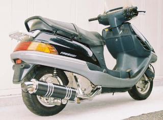 【Racing Shop Yokota】RSY Little Bomb 黑色碳纖維全段排氣管:FREEWAY (MF03)用 - 「Webike-摩托百貨」