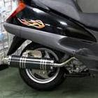 【Racing Shop Yokota】RSY Big Horn 黑色碳纖維全段排氣管:FORESIGHT (MF04)用