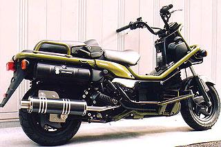 RSY Big Horn 黑色碳纖維全段排氣管:PS250 (MF09)用
