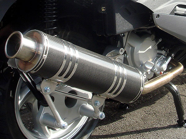 RSY Big Horn 黑色碳纖維全段排氣管:Silver Wing 400(NF01・有排氣閥)用