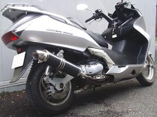 RSY Little Bomb 黑色碳纖維全段排氣管:Silver Wing 400 (NF01・無排氣閥)用