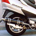 【Racing Shop Yokota】RSY Big Horn 黑色碳纖維全段排氣管:Skywave 250(CJ43A)用