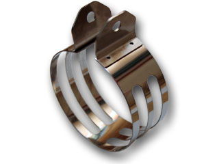 RSY Little Bomb 黑色碳纖維全段排氣管用 消音器束環